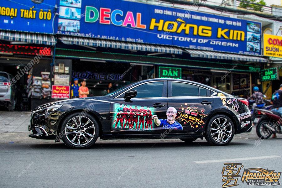 Dán decal - tem xe ô tô Mazda 6tại Ô Tô Hoàng Kim chi nhánh Tp.HCM và Bình Dương