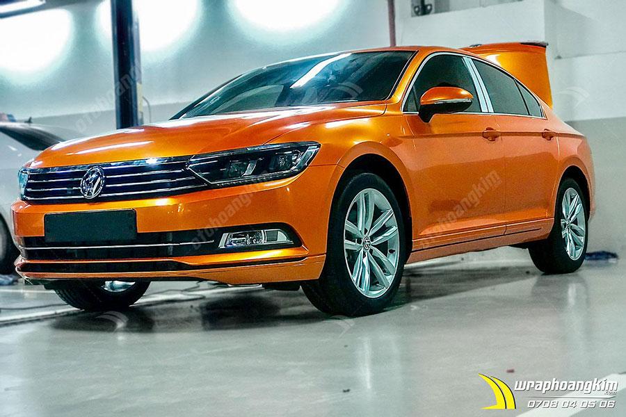 Dán đổi màu Candy cam ma thuật Volkswagen Passat cực bắt mắt, cực lịch lãm