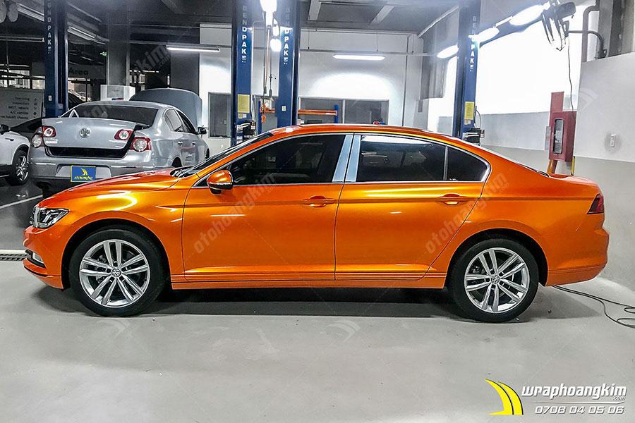 Lột xác ngoạn mục với decal dán đổi màu Candy cam ma thuật Volkswagen Passat cực hoàn hảo