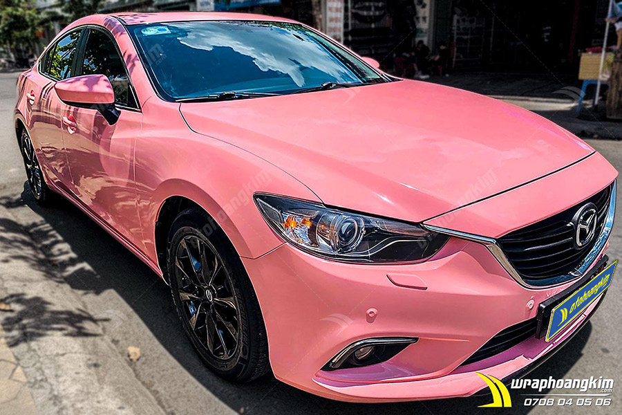 Dán đổi màu Candy hồng nhạt ánh kim Subaru WRX không đụng hàng và cực khác biệt