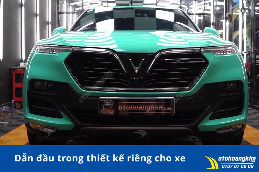 Thương hiệu xe Vinfast Việt Nam lên đời bộ Wrap đổi màu Gloss Crystal Tiffany Green cho Vinfast Lux SA2.0