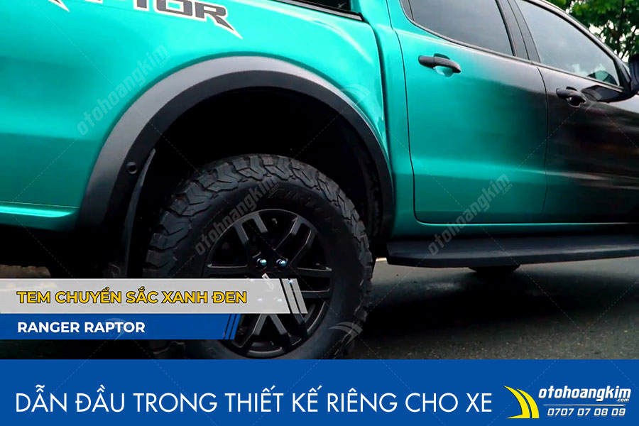 Decal dán đổi màu chuyển sắc xanh đen Ranger Raptor tạo điểm nhấn cực chất cho xe