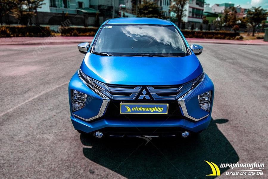 Dán đổi màu xanh nhôm xước ánh kim Mitsubishi Xpander đầy kiêu sa, lộng lẫy