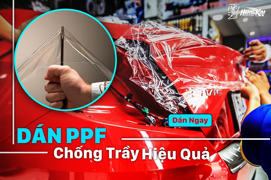 Dán PPF ô tô giúp sơn xe được bảo vệ và chống trầy hiệu quả
