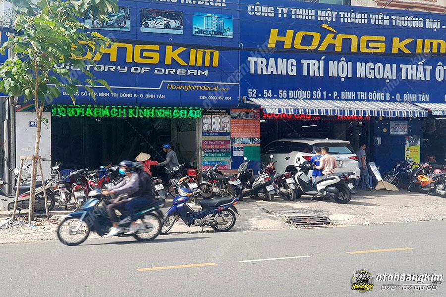 Ô tô Hoàng Kim chuyên sản phẩm chăm sóc xe tại Tp.HCM