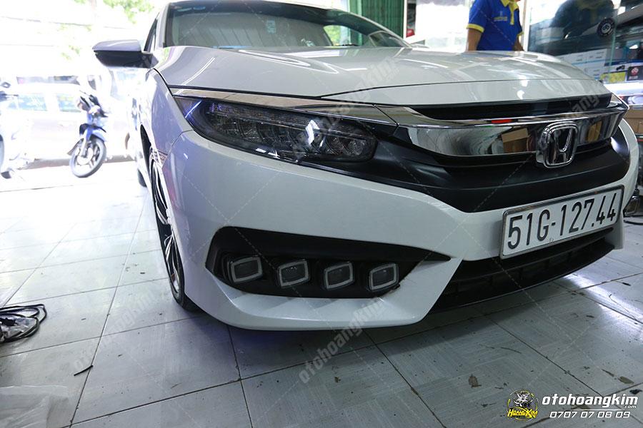 Độ đèn gầm xe hơi Honda City tại Ô tô Hoàng Kim chi nhánh Tp.HCM