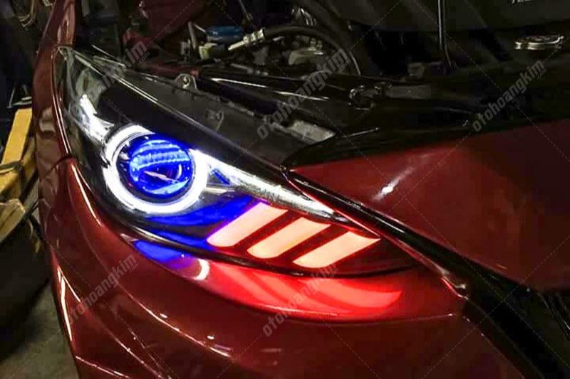 """Mazda 3 độ đèn Ford Mustang """"lột xác"""" ngoại hình ngoại mục"""