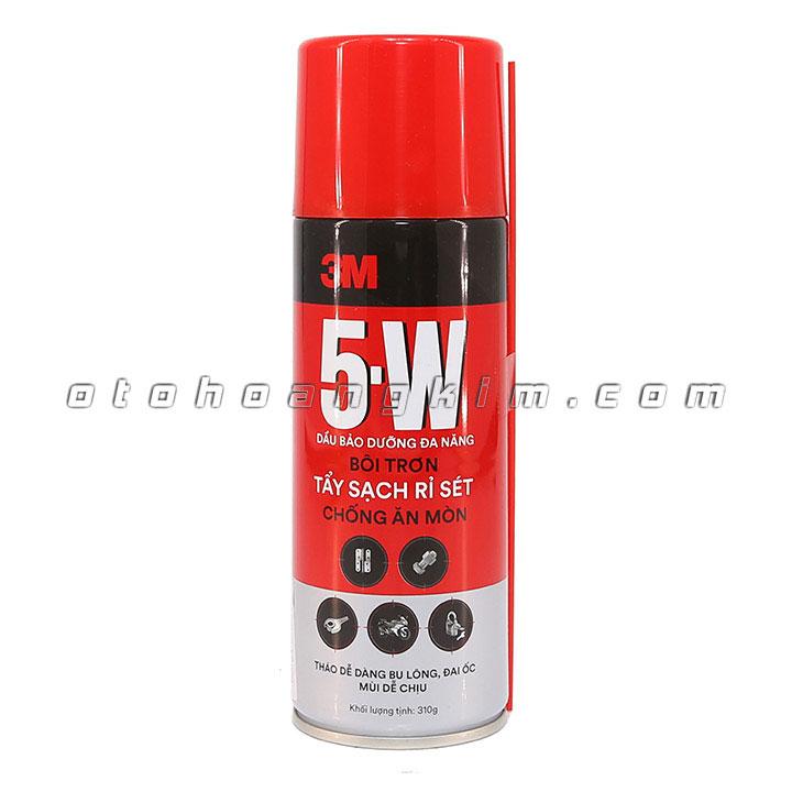 Dung dịch vệ sinh 3M 5-W xịt tẩy sét giúp làm sạch các vết gỉ sét trên các đồ dùng bằng inox, nhôm