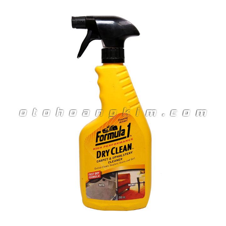 Dung dịch vệ sinh Formula 1 Dry Clean làm sạch thảm, ghế