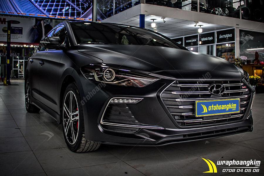 Dán đổi màu đen mờ Hyundai Elantra