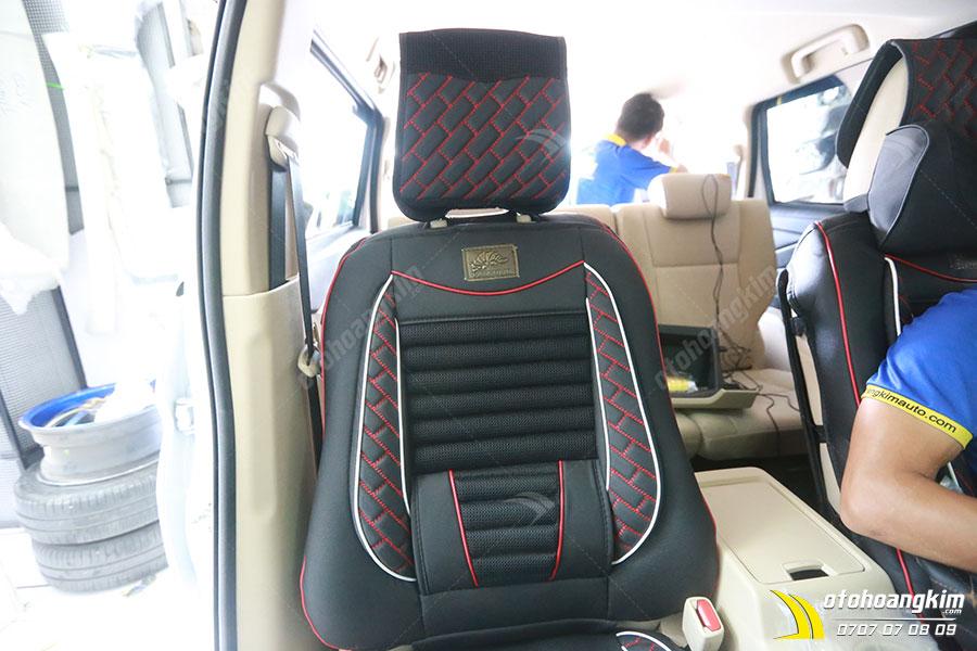 Lót ghế ô tô chất liệu da nỉ