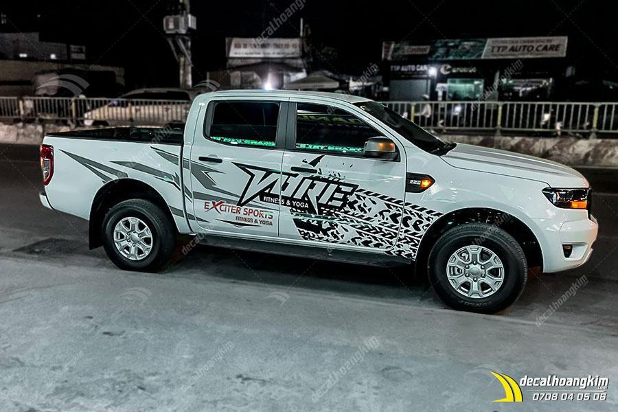 Mẫu decal xe Ford Ranger cá tính