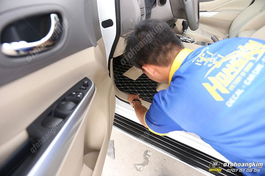 Ô tô Hoàng Kim chuyên thảm lót sàn ô tô theo yêu cầu của khách hàng