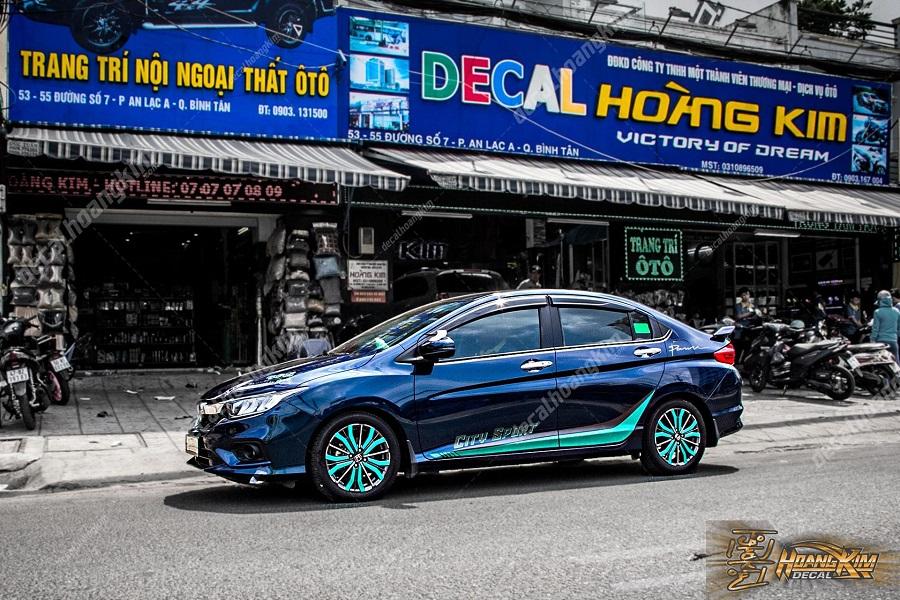 Ô tô Hoàng Kim chuyên dán decal xe hơi cho Honda City