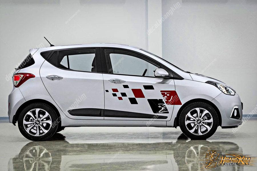 Tem xe Hyundai I10 đơn giản không cầu kỳ