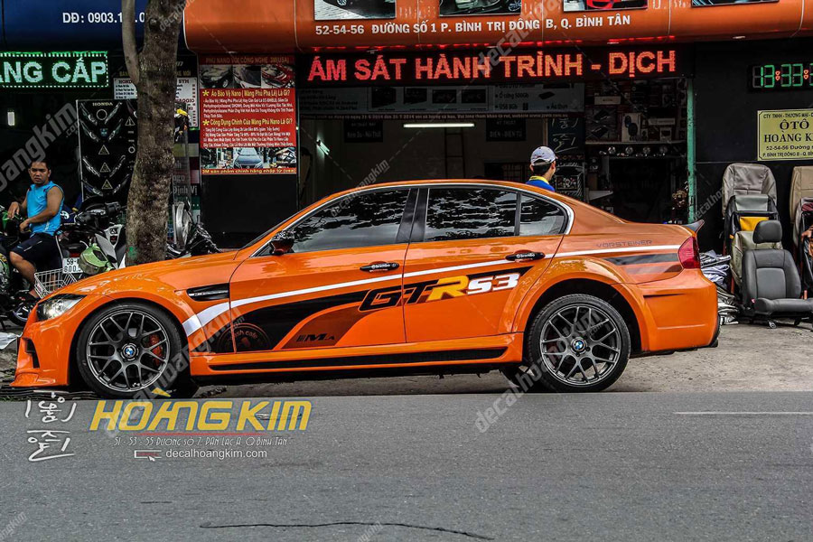 Dán đổi màu tem xe BMW nổi bật gây ấn tượng