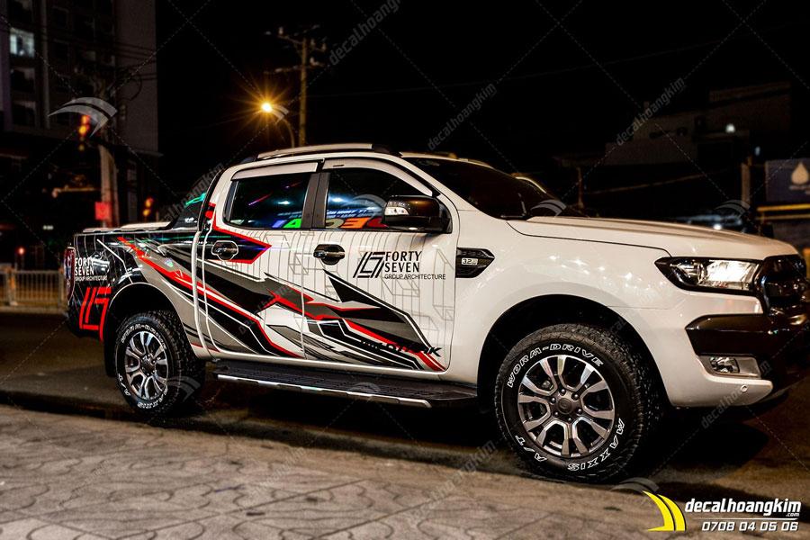 Ô Tô Hoàng Kim đổi màu Tem xe Ford Ranger cực xịn
