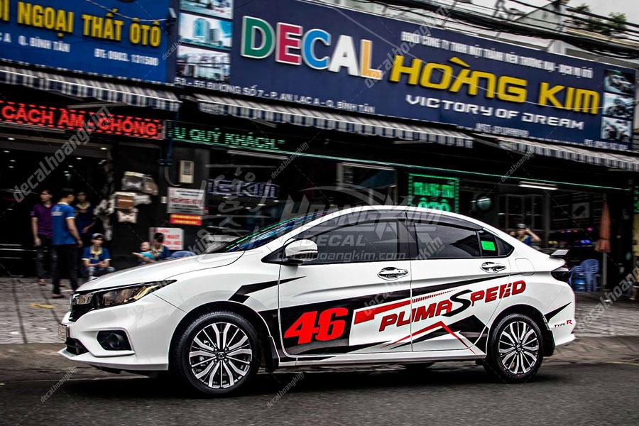 Lên mẫu tem xe Honda City thể thao năng động