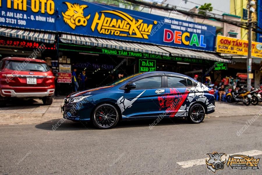 tem xe Honda City giúp trang trí xe thêm mới lạ