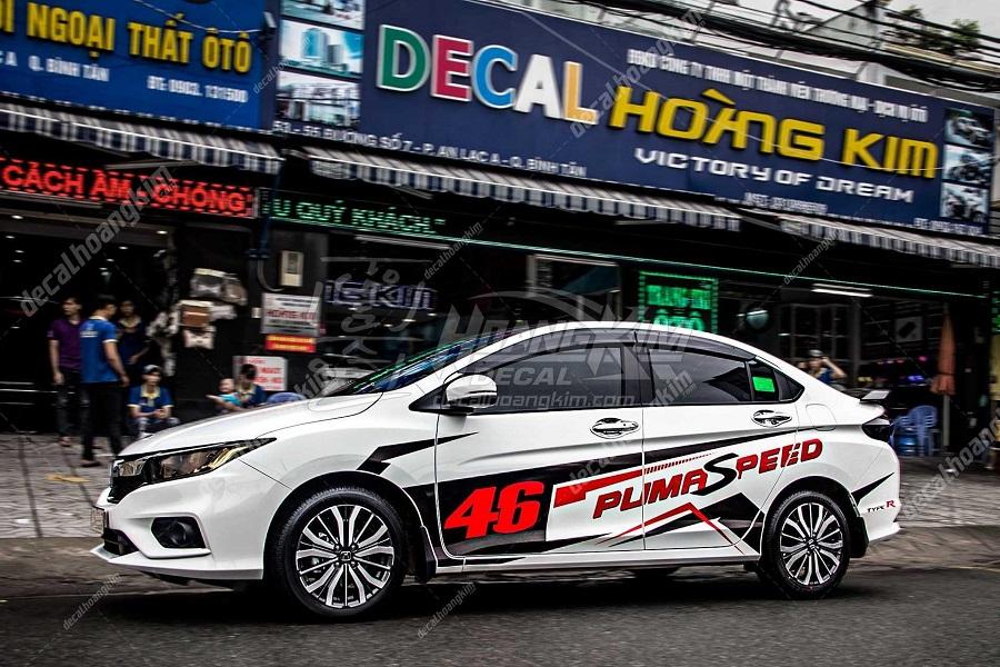 Độ tem xe Honda City thể thao tại Ô tô Hoàng Ki