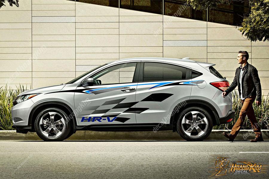 Demo mẫu decal tem xe Honda HR-V hiện đại
