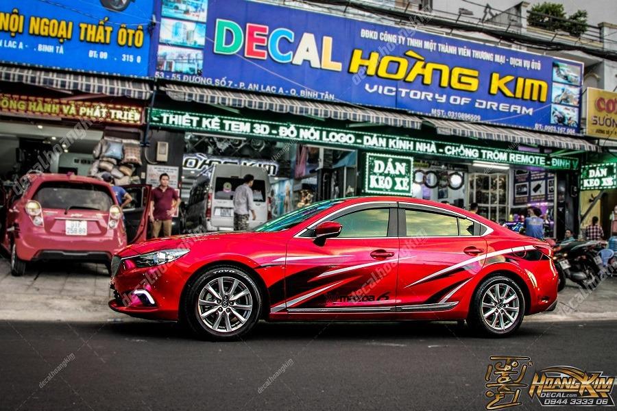 Top mẫu tem sườn Mazda 6 đơn giản siêu chất