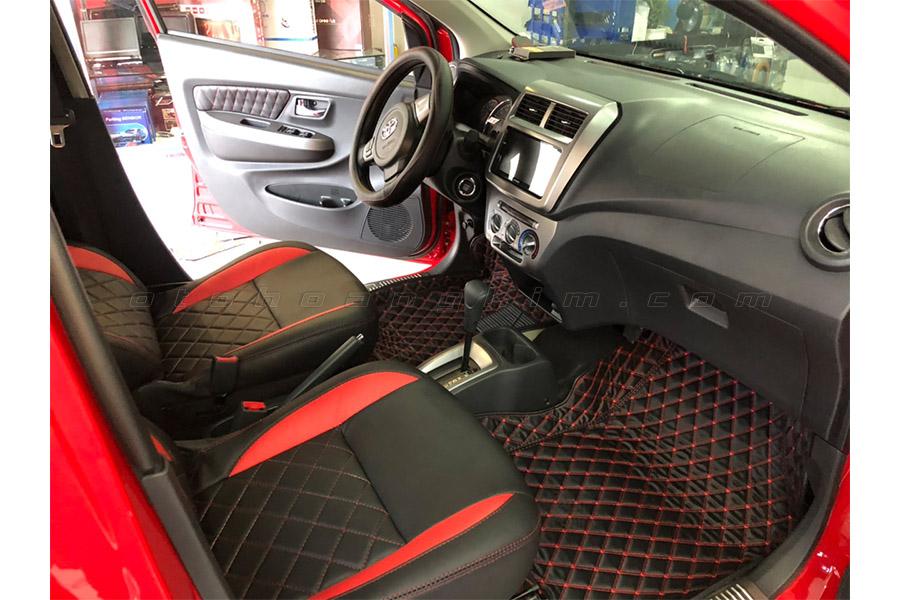 Wigo sang hơn với thảm lót sàn xe ô tô cùng màu
