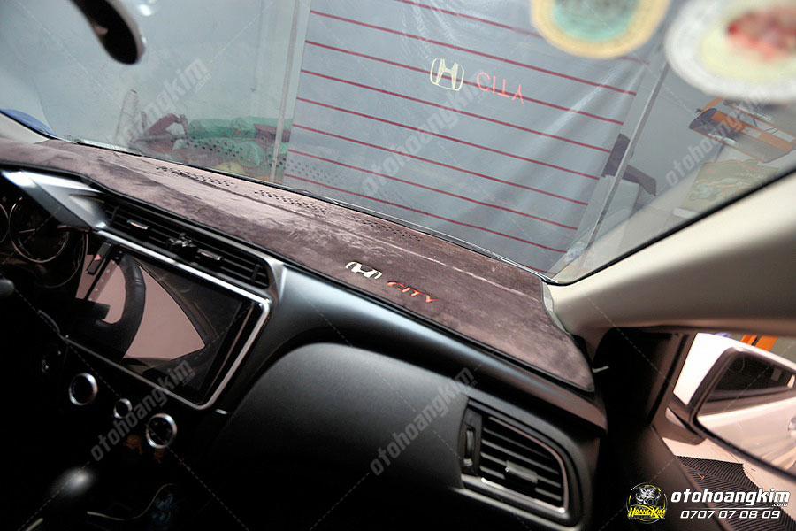 Thảm taplo Honda City chất liệu nhung