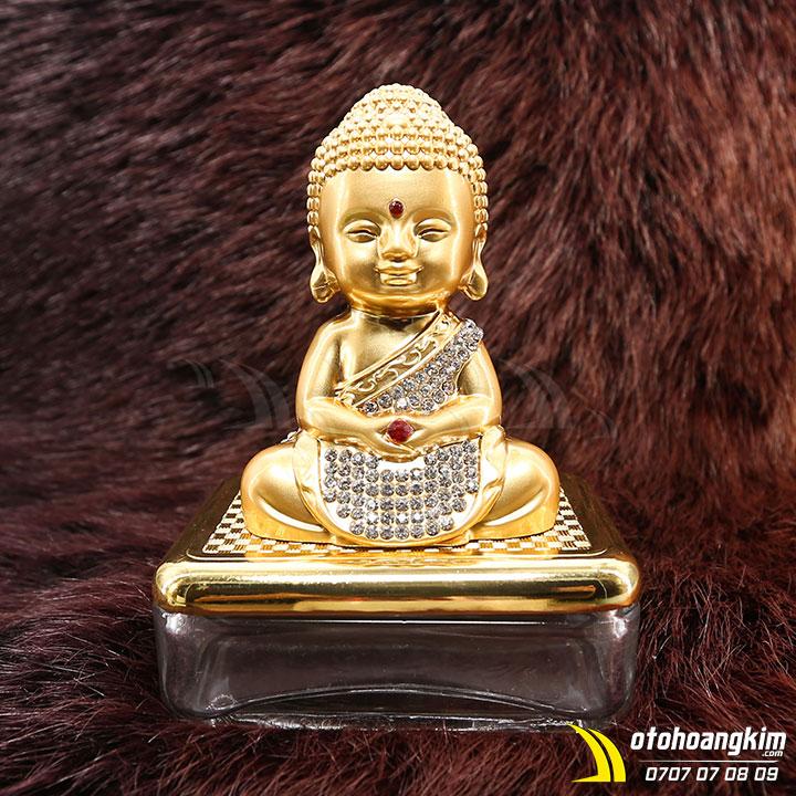 Tượng Phật đính đá trang trí ô tô sang trọng