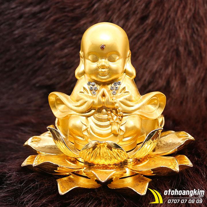 Tượng Phật ngồi hoa sen trang trí xe hơi