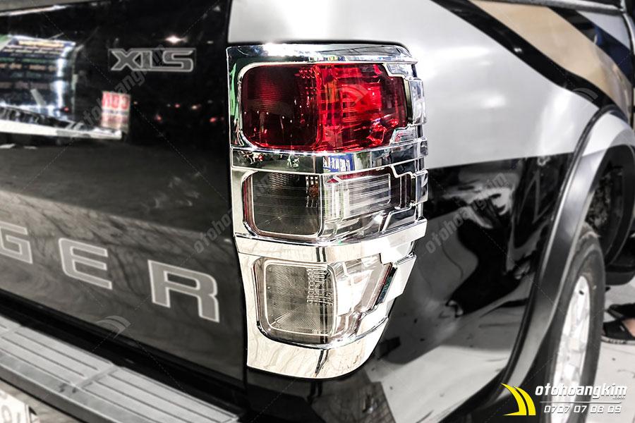 Viền đèn sau Ranger mạ xi