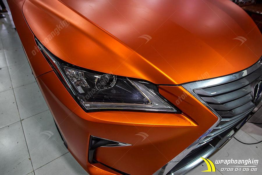 Dán đổi màu cam mờ Lexus RX 200T có độ phản xạ ánh sáng thấp