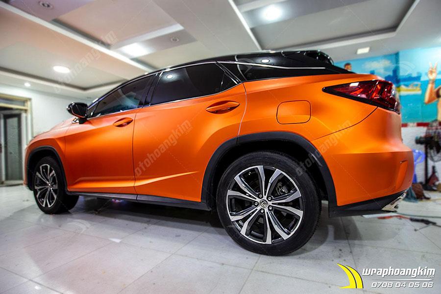 Wrap đổi màu cam mờ Lexus RX 200T nổi bật